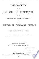The Debates of the House of Deputies in the General Convention     Book PDF