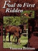 Foal to First Ridden