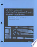 Quiz Booklet to Accompany Understanding Language Structure, Interaction, and Variation