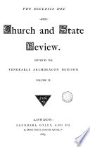 Church and State review  ed  by archdeacon Denison Book PDF