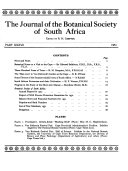 Journal of the Botanical Society of South Africa