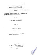 Transactions of the Ophthalmological Society of the United Kingdom ...
