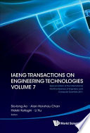 Iaeng Transactions On Engineering Technologies Volume 7 Special Edition Of The International Multiconference Of Engineers And Computer Scientists 2011