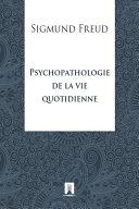 Pdf Psychopathologie de la vie quotidienne Telecharger