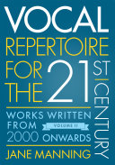 Vocal Repertoire for the Twenty First Century  Volume 2