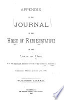 Journal of the House of Representatives     General Assembly of Ohio     Book PDF