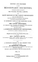History and Progress of the Missionary Societies