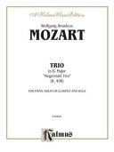 Trio in E-Flat, K. 498: Piano, Clarinet, & Viola (Score & Parts), Score & Parts