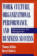 Work Culture  Organizational Performance  and Business Success