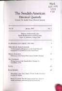 The Swedish American Historical Quarterly