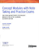 Concept Modules with Note Taking and Practice Exams