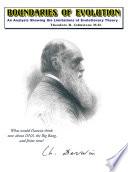 Boundaries Of Evolution Book PDF