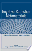Negative Refraction Metamaterials Book