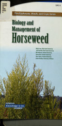Biology and Management of Horseweed