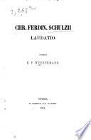 C.F. Schulzii laudatio