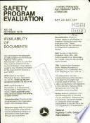 Safety Program Evaluation  a Bibliography Book PDF