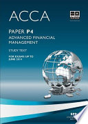 ACCA P4   Advanced Financial Management   Study Text 2013 Book