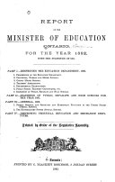 Pdf Reports of the Minister of Education