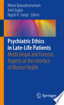 Psychiatric Ethics In Late Life Patients