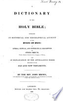 A Dictionary of the Holy Bible Pdf/ePub eBook
