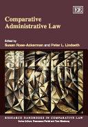Pdf Comparative Administrative Law