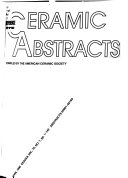 Ceramic Abstracts Book PDF