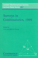Surveys in Combinatorics  1999