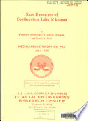 Sand Resources of Southeastern Lake Michigan