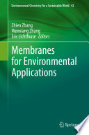 Membranes for Environmental Applications Book