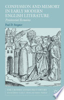 Confession and Memory in Early Modern English Literature