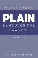 Plain Language for Lawyers