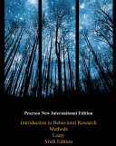 Introduction To Behavioral Research Methods Pearson New International Edition PDF