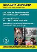 Zur Rolle Der Veterin Rmedizin In Forschung Und Gesellschaft Book PDF