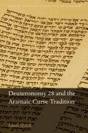 Deuteronomy 28 and the Aramaic Curse Tradition