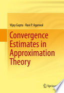 Cover image of Convergence estimates in approximation theory