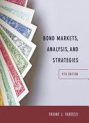 Bond Markets, Analysis, and Strategies