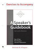Exercises to Accompany A Speaker s Guidebook Book PDF