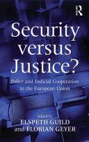 Security versus Justice? [Pdf/ePub] eBook