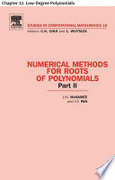 Numerical Methods for Roots of Polynomials   Part II Book