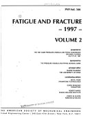 Fatigue and Fracture  1997