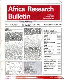 Africa Research Bulletin