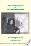 Petrarch s Canzoniere in the English Renaissance