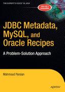 Pdf JDBC Metadata, MySQL, and Oracle Recipes Telecharger