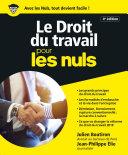 Pdf Le Droit du travail pour les Nuls, grand format, 4e édition Telecharger