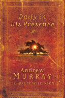 Daily in His Presence Book