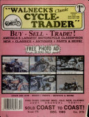 WALNECK'S CLASSIC CYCLE TRADER, DECEMBER 1989