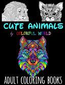 Cute Animals Adult Coloring Books Book PDF