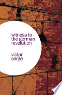 Witness to the German Revolution Book PDF