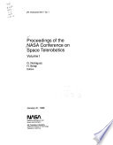 Proceedings of the NASA Conference on Space Telerobotics