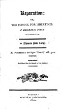 Reparation; Or, The School for Libertines